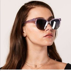 Diff Eyewear IVY In Amethyst Glitter Cat Eye